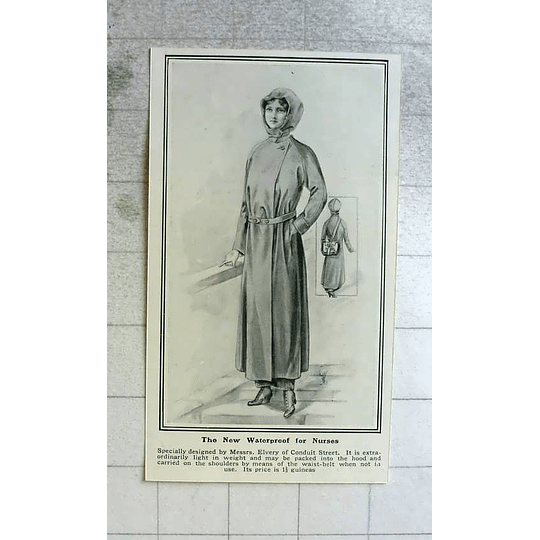 1914 New Waterproof For Nurses Designed By Elvery, Conduit Street