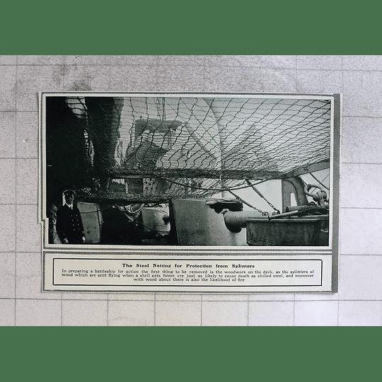 1914 Steel Netting Battleship For Protection From Splinters