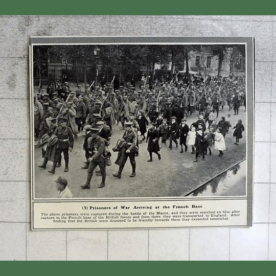 1914 German Prisoners Captured Battle Of The Marne Arrive At French Base