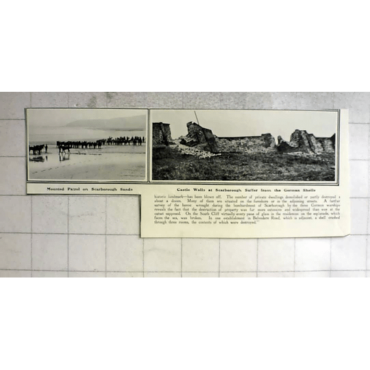 1914 Bombardment Of Scarborough, Castle Walls Suffer Bombardment