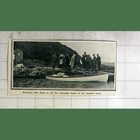 1914 Receiving War News In Secluded Lochs Scotland Coast