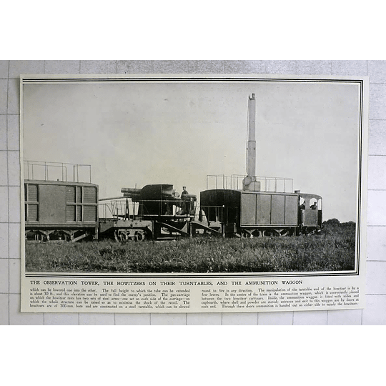 1914 Observation Tower, Howitzer On Turntable, Ammunition Wagon