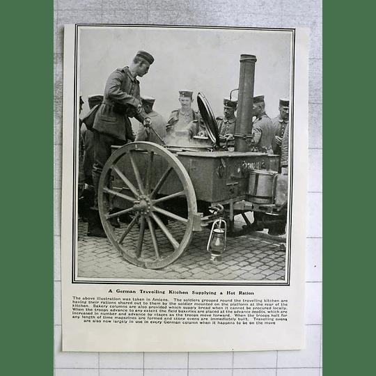 1914 German Travelling Kitchen Supplying Hot Ration