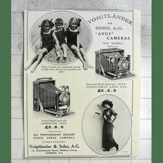 1914 Voigtlander Avus Cameras New Models