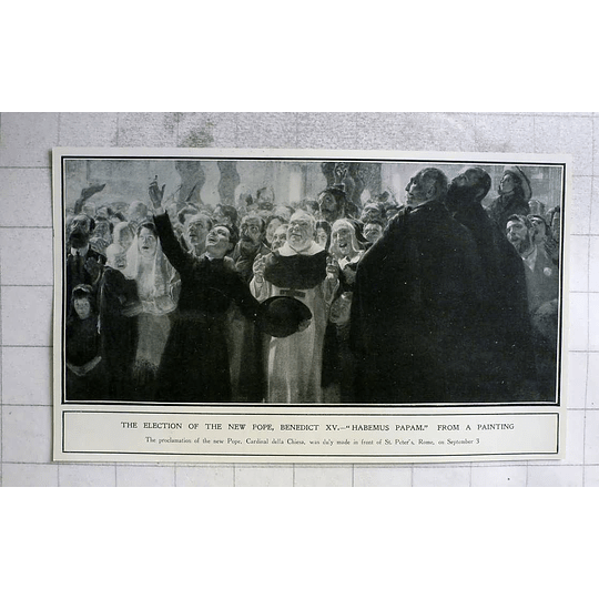 1914 Election Of New Pope Benedict Xv Painting
