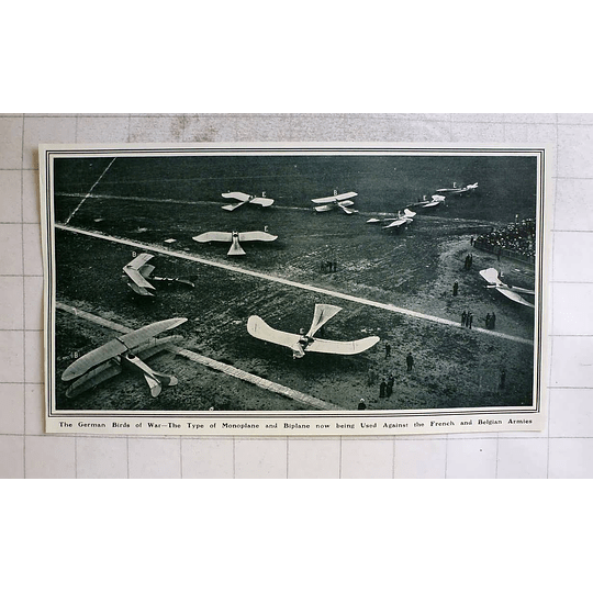 1914 German Birds Of War, Monoplane Biplane