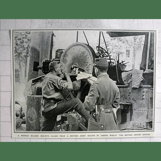 1914 British Army Engine Driver Shaving Wallis Steevens Basingstoke