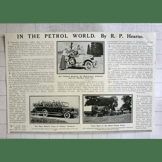 1914 Mrs Edward Kennard, Authoress And Her Standard Light Car
