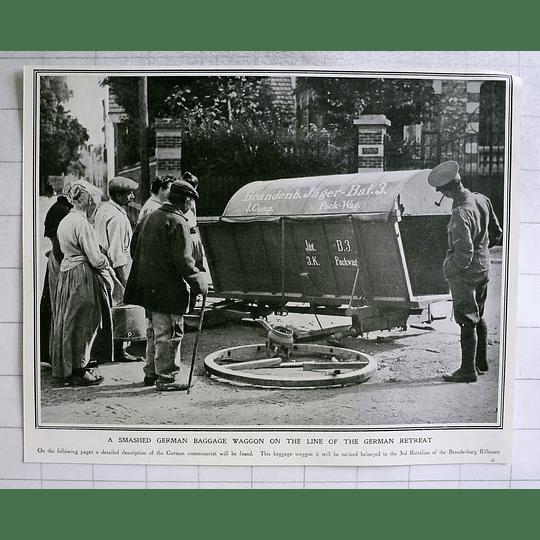 1914 Smashed German Baggage Wagon 3rd Battalion Brandenburg Riflemen