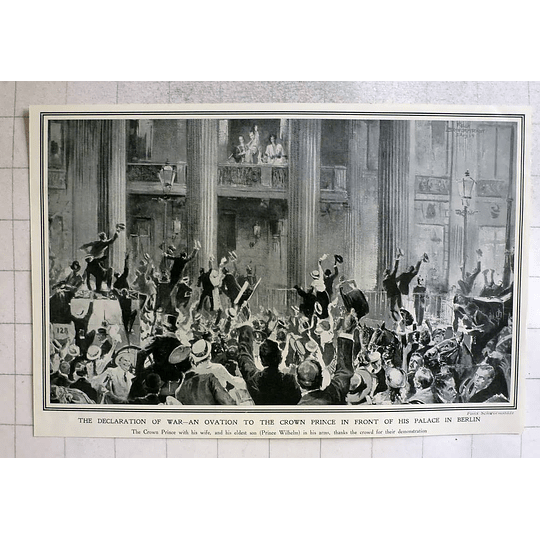 1914 Germany Declaration Of War Elevation To Crown Prince
