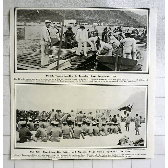 1914 British Troops Landing In Lao Shan Bay Joint Japanese Expedition