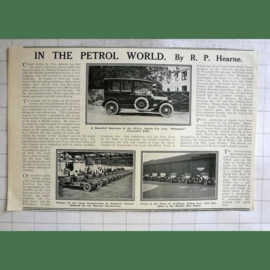 1914 20 Hp Boston Cawood Whitehall Limousine Body