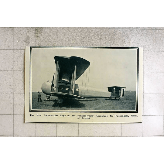 1919 New Commercial Type Of Vickers-vimy Aeroplane For Passengers, Mail, Freight