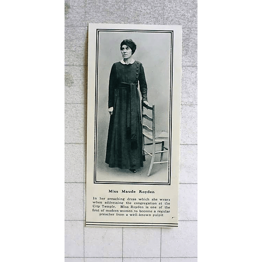 1919 Miss Maud Royden In Her Preaching Dress City Temple