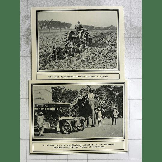 1919 Nizam Of Hyderabad, Napier Car And Elephant