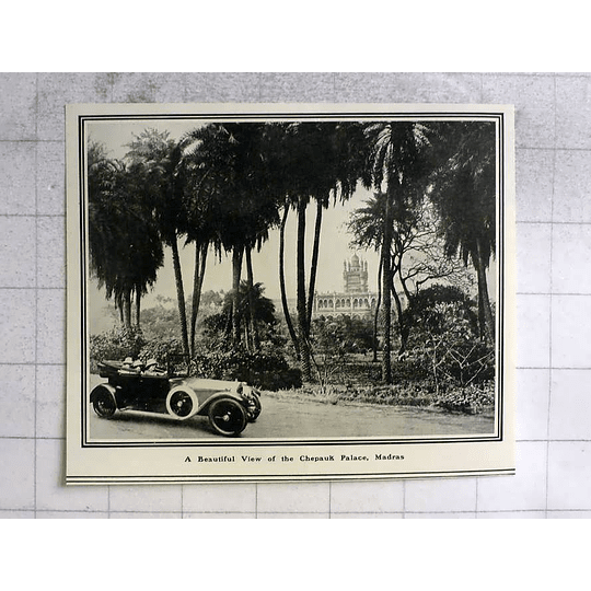 1919 Beautiful View Of The Chepauk Palace In Madras
