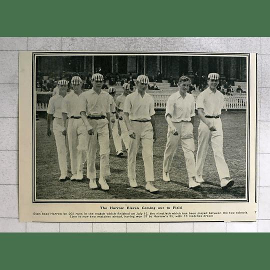 1919 Eton Beat Harrow By 202 Runs, Team Photo