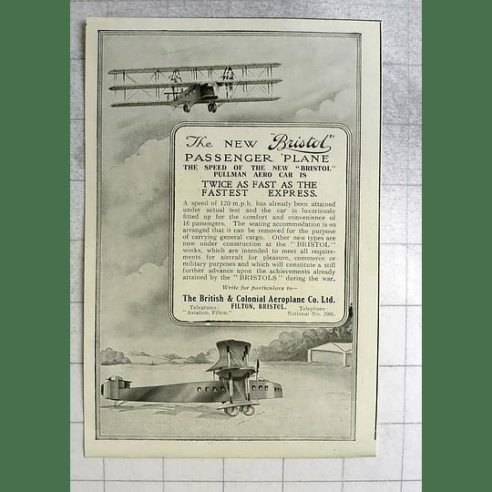 1919 British Colonial Aeroplane Company Filton Bristol