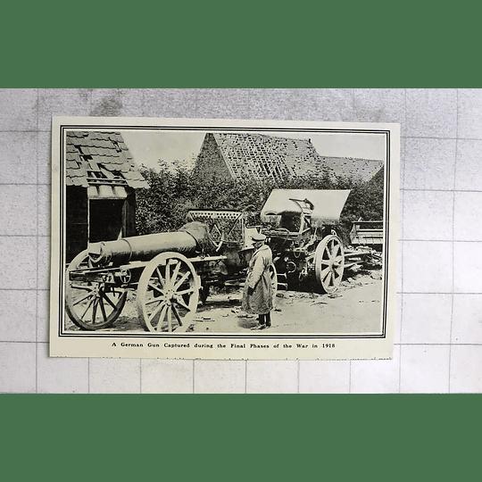 1919 German Gun Captured During Final Phase Of The War