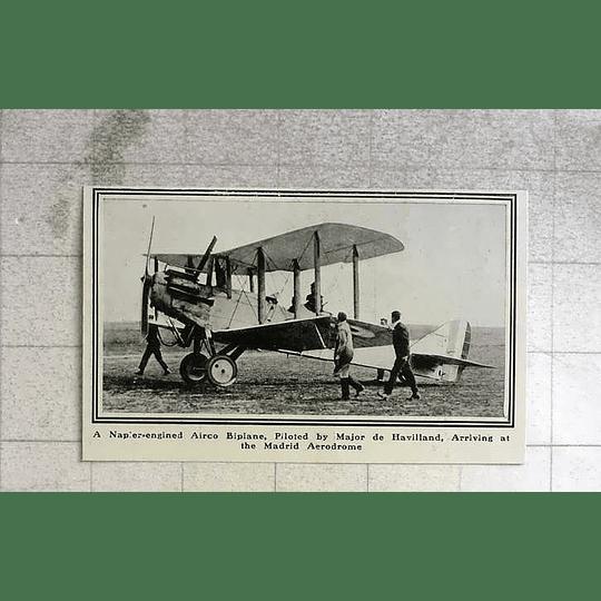 1919 Napier Engined Airco Biplane Piloted By Major De Havilland
