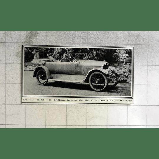 1919 Mr Wm Lett's At Wheel Of 30 Hp Crossley
