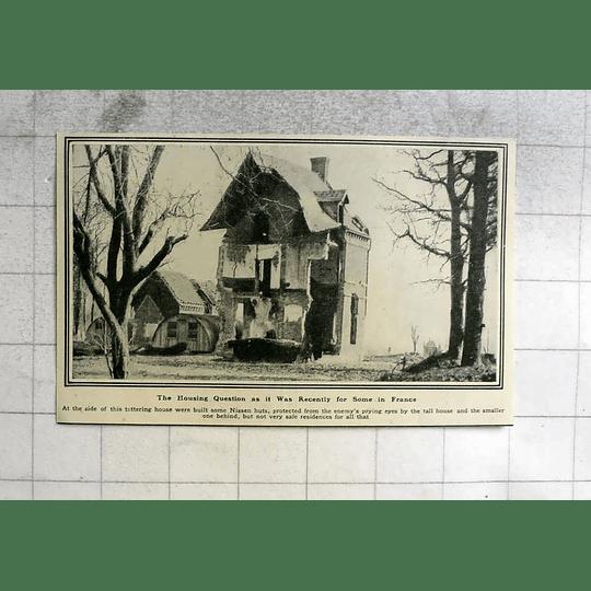1919 Nissen Huts Built Between Tottering Ruins In France