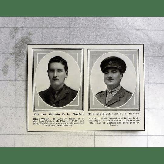 1919 Capt Pl Playfair, Lt Ge Bassett