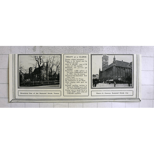 1919 Restored Polish Town Bromberg, City Thorn