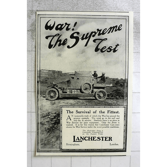 1919 Lanchester Armoured Car On The Eastern Front, Survival Of The Fittest