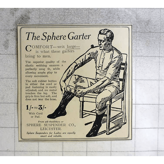 1919 The Sphere Garters, Suspender Company Leicester