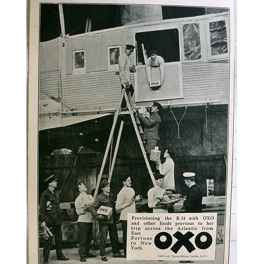 1919 Airship R 34 Being Supplied With Oxo For Transatlantic Trip