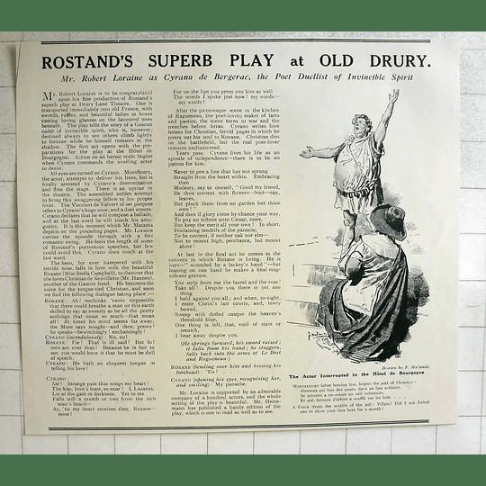 1919 F Matania Drawing Cyrano De Bergerac Play Old Drury