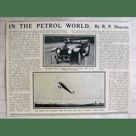 1919 700 Hp Fiat Aeroplane Flies Rome To London Record Speed