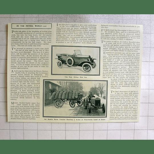 1919 Austin Farm Tractor Hauling 4 Tonnes Of Grain