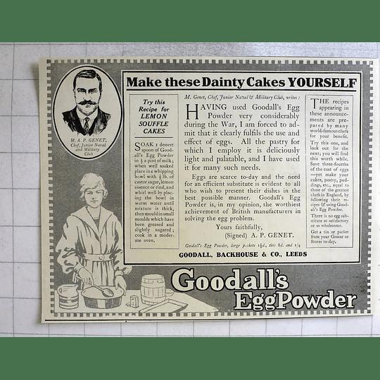 1919 Goodall Backhouse Leeds Lemon Soufflé Cake Recipe