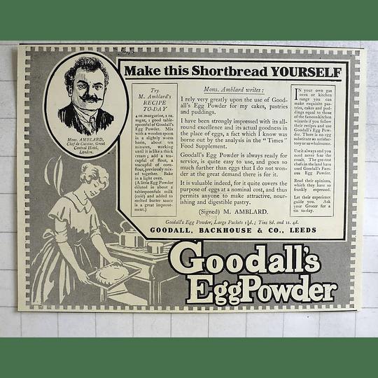 1919 M Amblard Recipe For Shortbread Goodall Backhouse Egg Powder