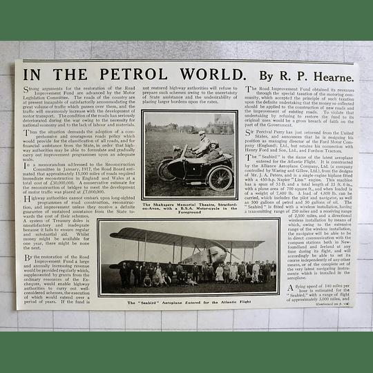 1919 The Seabird Aeroplane Entered For Atlantic Flight