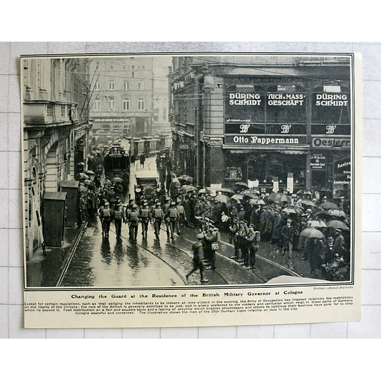 1919 Changing The Guard Residence British Military Governor Cologne