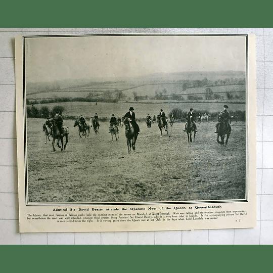 1919 Opening Meet Of The Quorn At Queeniborough Sir David Beatty