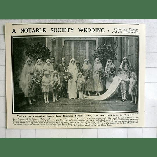 1919 Viscount And Viscountess Ednam Wedding St Margarets Westminster