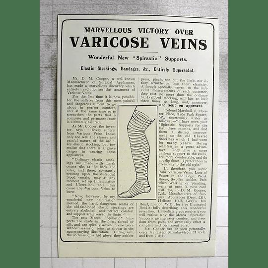 1917 Mr Dm Cooper Marvellous Victory Over Varicose Veins