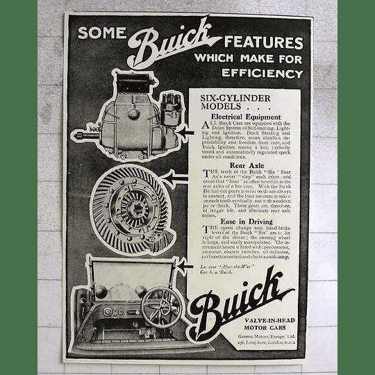 1917 Buick Valve In Head Motorcars Make Efficiency