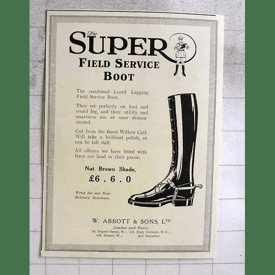 1917 W Abbott Super Field Service Boot £6.6.0 Shillings