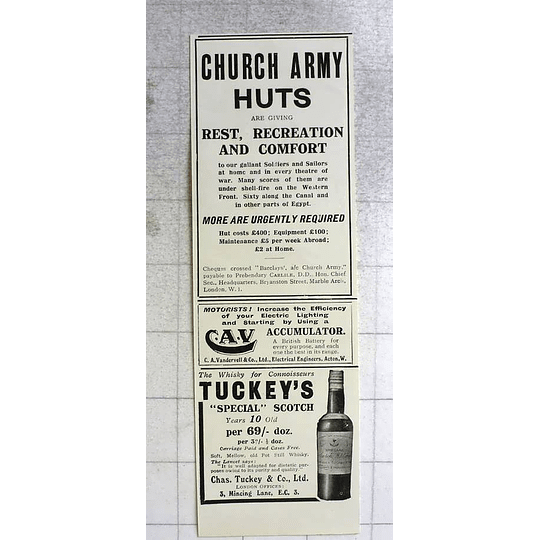 1917 Tuckey's Special Scotch, Whiskey For Connoisseurs