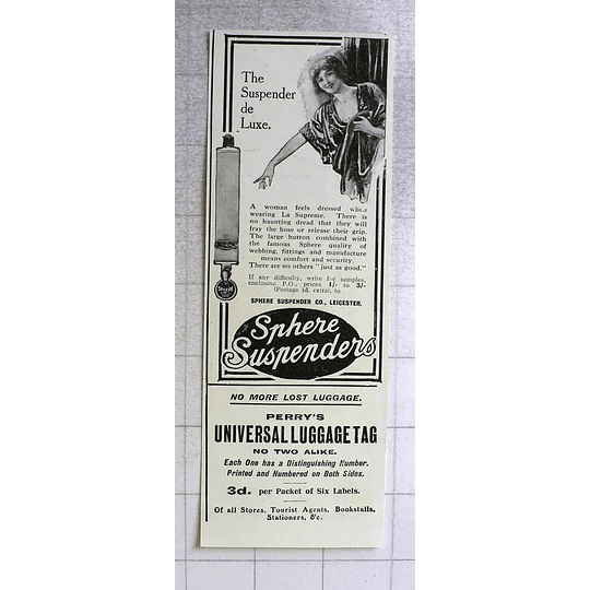 1917 No More Lost Luggage Perrys Universal Luggage Tag