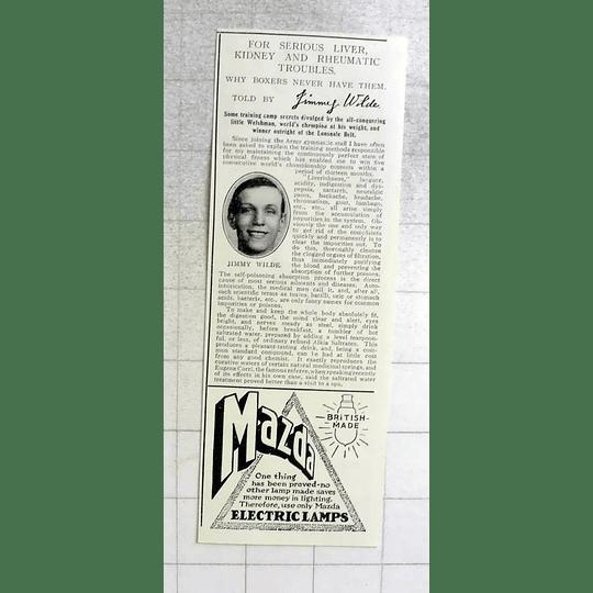 1917 All Conquering Little Welshman Jimmy Wilde Training Camp Secret