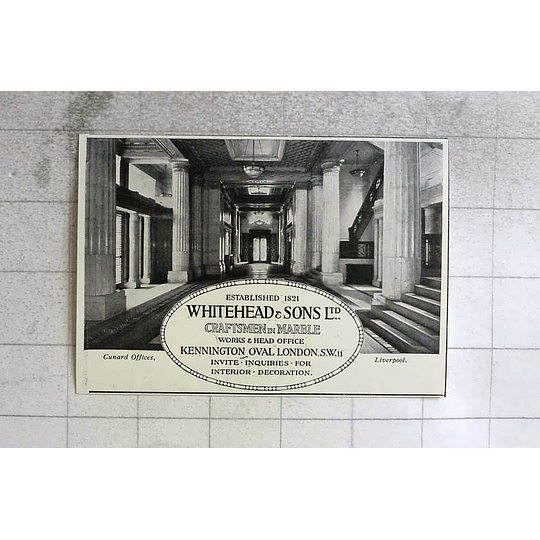 1917 Cunard Offices Liverpool Faced With Marble From Whitehead And Sons