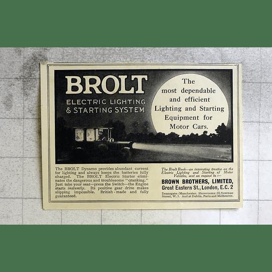 1917 Brown Brothers Brolt Dynamo Abundant Current