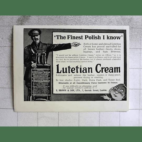 1917 Royal Lutetian Cream Finest Polish I Know, E Brown Garrick Street London