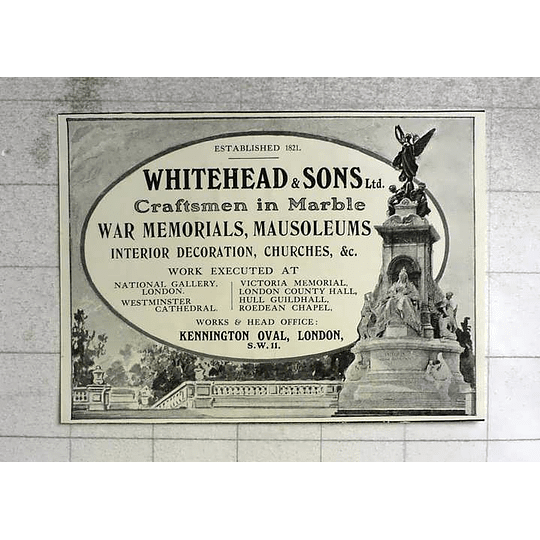 1917 Whitehead And Sons Craftsman In Marble Kennington Oval
